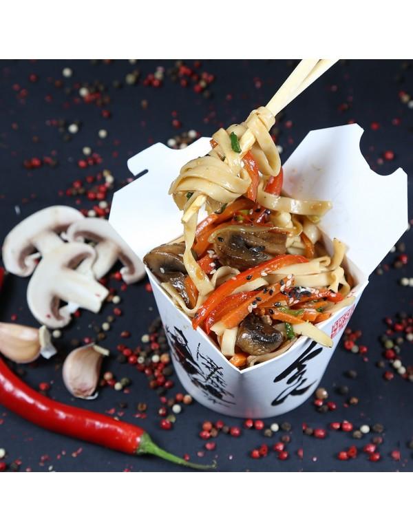Лапша Удон с грибами и овощами ( 300 гр.)